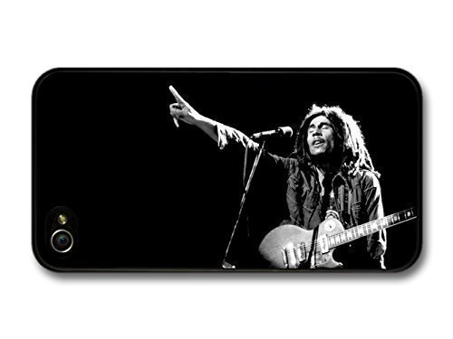 Fashion case Coque pour iPhone 5/5S Motif Bob Marley Guitare Rasta Reggae