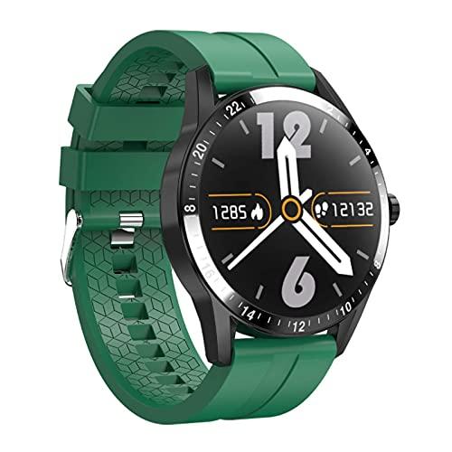 LITINGT Reloj Inteligente, Pulsera de Fitness, IP67 Resistente al Agua, detección de frecuencia cardíaca para Entrenamiento de la respiración, Llamada Bluetooth, podómetro Masculino y Femenino, Apto