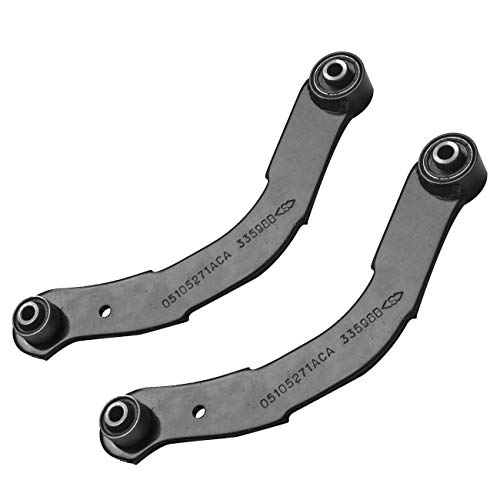 TUCAREST 2Pcs (Pair) K641281 Left Right Rear Upper Control Arm (Lateral Link) Compatible With 2007-2012 Dodge Caliber 07-17 Jeep Compass [Mfr Body Code:MK Only] Patriot Suspension