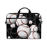 WXLIFE Sport Ball Baseball Pattern 13 13.3 14 Inch Laptop Shoulder Messenger Bag Case Sleeve Briefcase with Handle Strap for Men Women Boys Girls