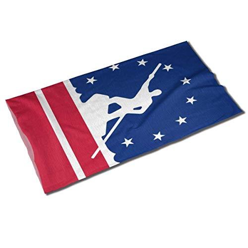 Richmond City Drapeau Virginie Unisexe Sport En Plein Air Écharpe Bandeaux Bandana Couverture Cou Guêtre Tête Wrap Bandeau Bandeau