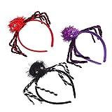 FRCOLOR 6Pcs Diademas de Araña Diademas de Fiesta de Halloween Diadema de Araña de Felpa Accesorios de Disfraces de Fiesta de Maquillaje de Halloween