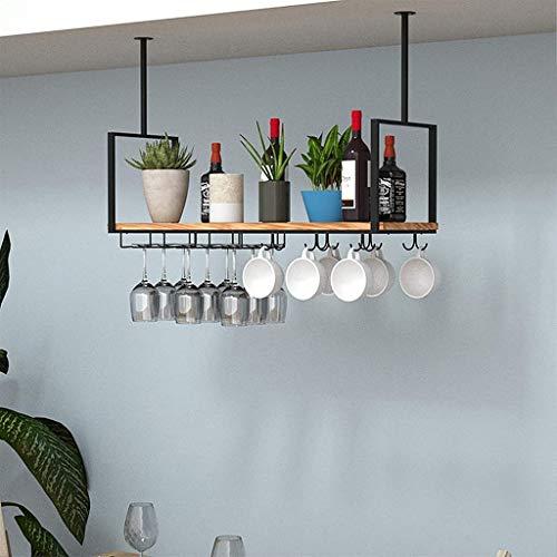 Rack de flores de techo retro de estantes de pared de madera estanterías de almacenamiento estante colgar aguas gusanos tazas de taza de taza de café montado en la pared, madera y metal Baldas Flotant