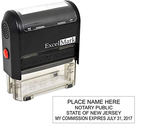 ExcelMark Self Inking Notary Stamp - New Jersey