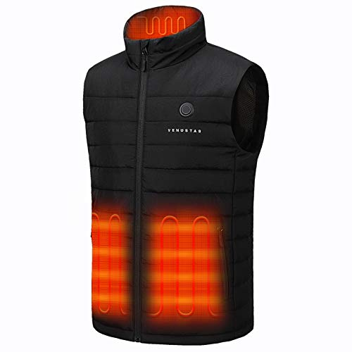 Venustas Men's Heated Vest with Battery Pack 7.4V, Heated hunting vest