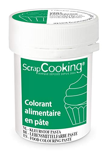 Scrapcooking Colorant en Pâte Vert Émeraude 20 g