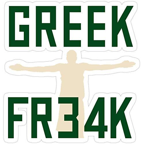 Vinyl Sticker for Cars, Trucks, Water Bottle, Fridge, Laptops Greek Freak 34 Stickers (3 Pcs/Pack)