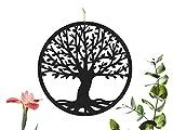 CONTRAXT Cuadros Arbol de la Vida Decoracion hogar Pared Salon Cuadro Mandala Madera Pared rusticos Panel Madera Tallada Vintage (Árbol de la Vida, Mediano)