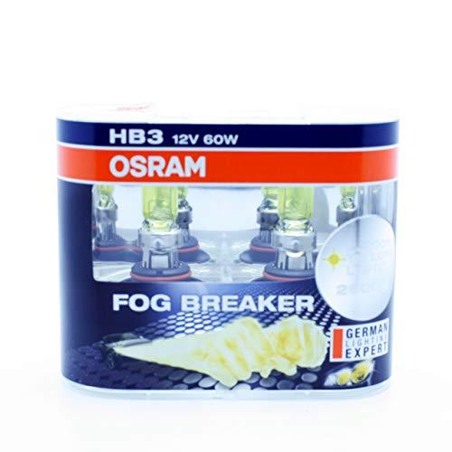 OSRAM 2x HB3 9005 12V P20d FOG BREAKER 60W 9005FBR OFF-ROAD YELLOW LIGHT 2600 K