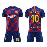 SEYE1° Fußball-T-Shirt, Sportanzug, Barcelona-Trikot, Nr. 10 Messi Fußball-Sportbekleidung, Fußball-Jungen-T-Shirt Für Erwachsene Und Kinder (G, 20)