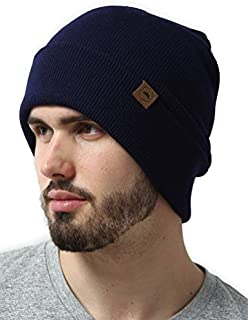 Winter Beanie Knit Hats for Men & Women - Warm, Stretchy & Soft Cold Weather Stylish Toboggan Watch Caps - Serious Cuff Beanies for Serious Style