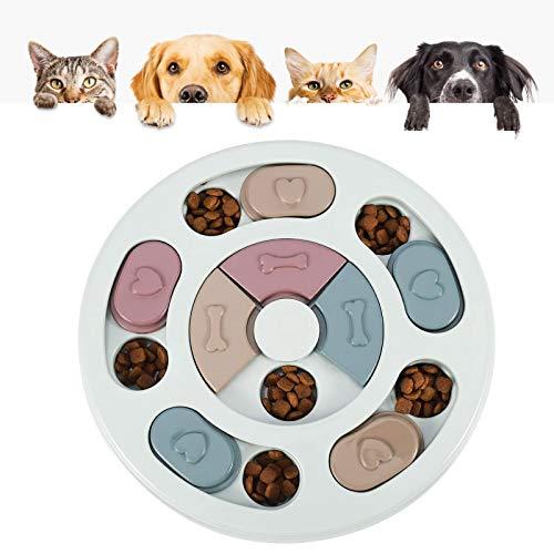 Grantop Hundespielzeug, Puzzle-Spielzeug langlebig, Hund Puzzle Feeder, haltbares interaktives Hund-Spielzeug Verbesserung des IQ (Runden)
