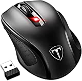 VicTsing Mouse Wireless 2400DPI, Mouse Senza Fili 2.4G con Ricevitore Nano, 24 Mesi di Batteria Durata, Compatibile con Windows 10/8/7/XP/Vi …
