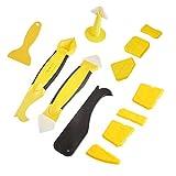 Y&J Silikonentferner&silikon 12 In 1 Fugenwerkzeug-Set Fugenglätter 3 Schaber Kit& 1 Stücke of Silikon-Dichtungsmittel Werkzeug 1CaulkingGunNozzle, 7 Pc
