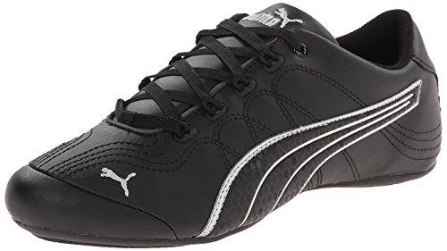 PUMA Women's Soleil V2 Comfort Fun Classic Sneaker, Black/Puma Silver, 6 B US