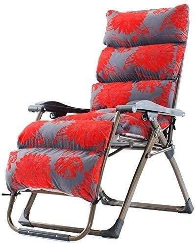 Fauteuil à bascule de jardin inclinable Office Life avec coussins pour personnes lourdes - Support de siège à bascule pliant pour terrasse extérieure 200 kg (couleur: rouge), couleur: motif tigre (
