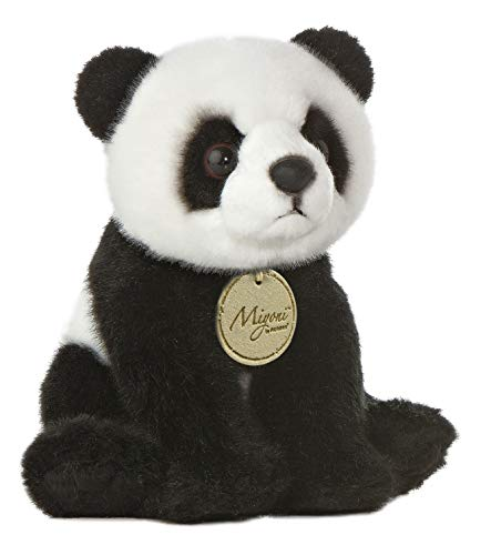Aurora, 10821, MiYoni Panda, 7.5In, Peluche Noir et Blanc