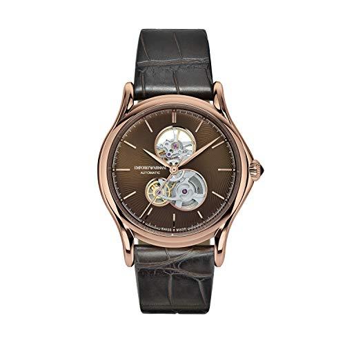 Emporio Armani Reloj Analogico para Hombre de Automático con Correa en Cocodrilo ARS3403