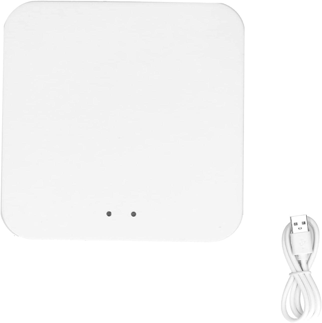 Dioche Smart Wireless Gateway Hub, Home Intelligent WiFi 802.11 B/g/n AI Voice Control for ZigBee 2.0 for TUYA 5V