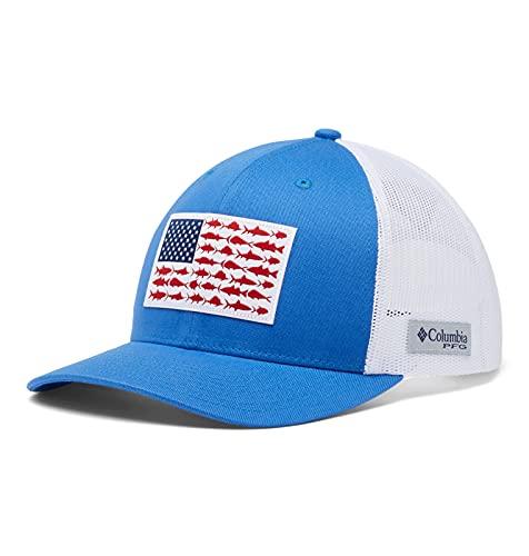 Columbia PFG Snap Back Fish Flag Ballcap, Vivid Blue/White, One Size