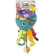 LAMAZE Captain Calamari, Clip on Pram and Pushchair Newborn Baby Toy, Sensory Toy for Babies Boys an...