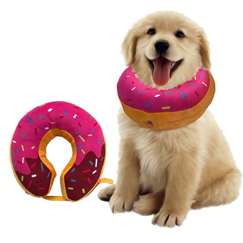 Dog Neck Donut Collar - Inflatable Dog Donut Collar for After Surgery - Elizabethan Collar for Dogs, Dog Inflatable Recovery Collar, Dog Doughnut Collar