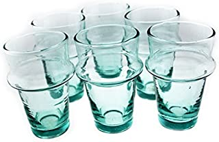 Moroccan Kasbah Clear Tea Glasses Set of 12 (2.7 inches)
