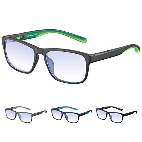 Rezi Gafas de ordenador Gafas Lectura para Protección contra Luz Azul - Alta Protección para Pantalla, Marco ultraligero | Luz anti-azul | 100{321a1e03415f1e9ddef00d6e4b4318bff910ed5885298453d30e599a926bb9ca} protección UV, Evita la Fatiga Ocular para PC, Móvil
