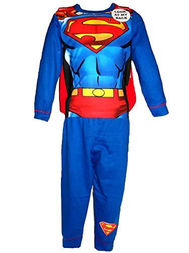 "Set pigiama/costume a tema fumetti, per ragazzi/bambini, motivo Buzz Lightyear, Woody, Batman, Capitan America, Darth Vader, Hulk, Iron Man, Spiderman, Superman, età 18 - 24 mesi, 2 - 3 anni, 3 - 4 anni, 5 - 6 anni, 7 - 8 anni Superman ""Body"" Cape 3/4 Anni"