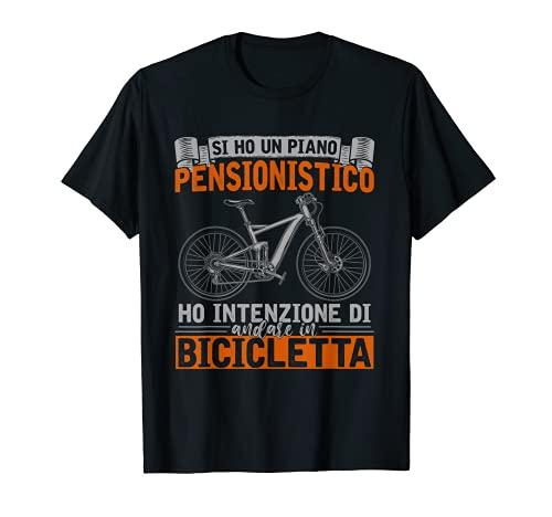 Ciclista Pensionato Idea Regalo Ciclismo Bici Bicicletta Maglietta