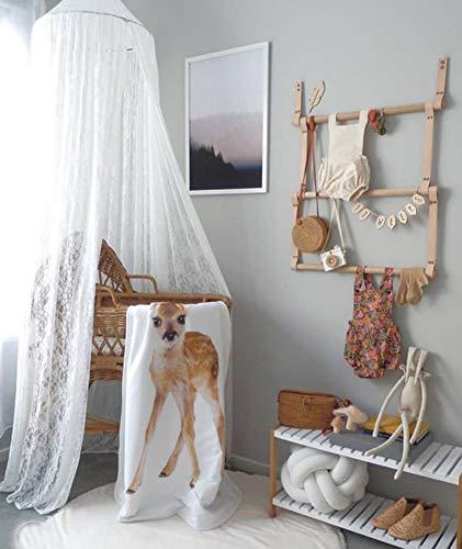 Spitze Baldachin Betthimmel Kinderzimmer Weiß Spitzenborte Baumwolle Moskitonetz Baby Mädchen Prinzessin Schlafzimmer Spielzimmer Dekoration