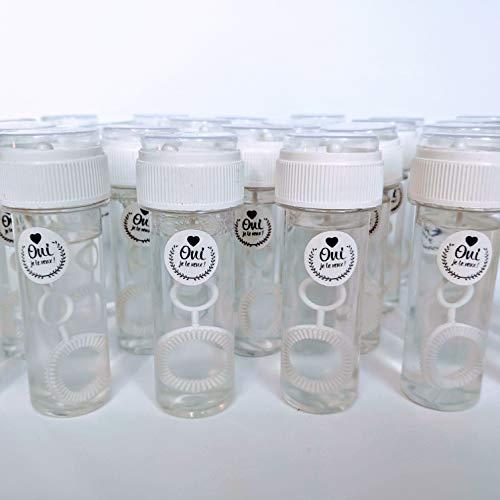 24 grandes tubes flacons bulles de savon mariage avec étiquette \