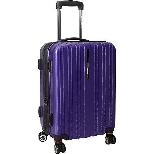 Traveler's Choice Tasmania Valise à roulettes Extensible 100 % Polycarbonate, Violet (Violet) - TC5000