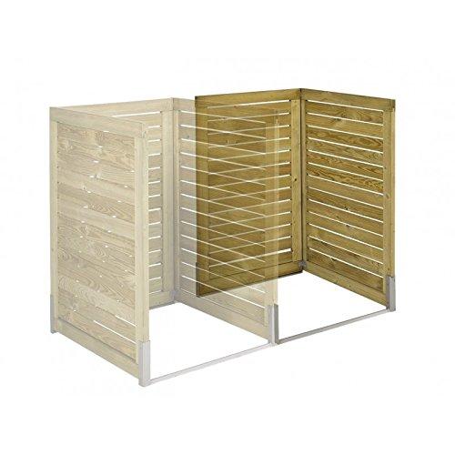 Koll Living Erweiterung für Mülltonnenabdeckung - Mülltonnenbox aus hochwertigen Naturholz