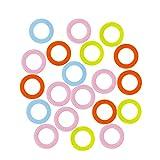 200pcs Marcadores de Puntada de Bloqueo,marcadores de la puntada de plástico para hacer punto del ganchillo de bloqueo, para Principiante Multicolores