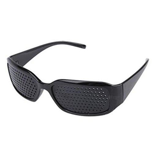 CDKJ – Gafas de reposo estenopeicas, ayudan a mejorar la vista, color negro