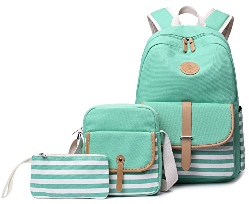 School Backpack for Girls, Gazigo Womens High School College Bookbags Laptop Bag (Green)