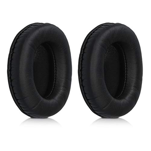 kwmobile 2X Almohadillas compatibles con Philips L1 / L2 Fidelio L2BO - Almohadilla de Repuesto de Cuero sintético para Cascos Auriculares