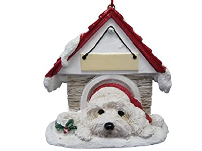 """Havanese Ornament A Great Gift For Havanese Owners Hand Painted and Easily Personalized """"Doghouse Ornament"""" With Magnetic Back from E&S Imports, Inc"""