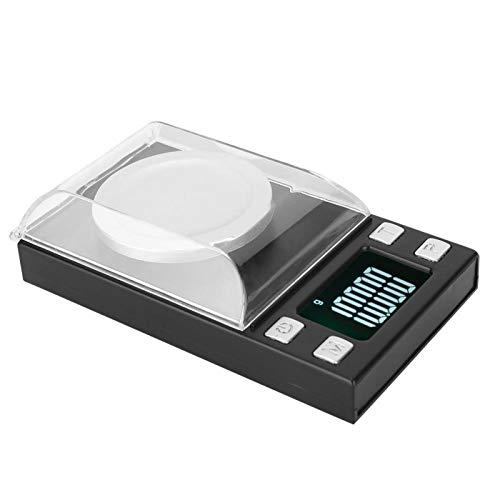 Báscula de Peso en Gramos, báscula electrónica de 0.001g para Alimentos, Alta precisión para joyería, Viajes, horneado, hogar, Cocina(50g/0.001g)