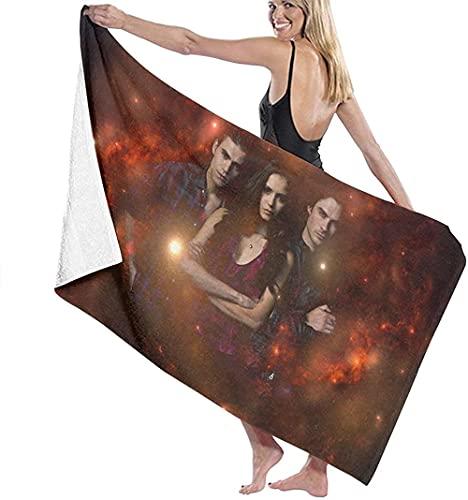 Toallas de baño de Vampire Diaries Toalla Gruesa, Suave y cómoda con exquisitos Patrones Impresos, Adecuada para baños, Playas y Piscinas