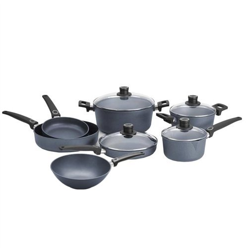 Woll Diamond Plus 11 Piece Nonstick Induction Cookware Set with 11.75 Inch Wok