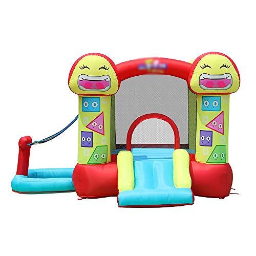 TXOZ Slide Infantil Inflable Castillo Inflable Juguete de la casa Trampolín casa de la Despedida de Diapositivas, con Oxford Malla de Pared, for el hogar Interior y Exterior