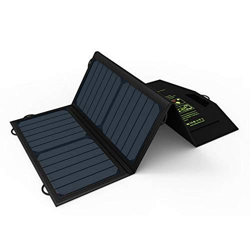 QETU Cargador Solar, Cargador de Teléfono Portátil 5V21W Cargador Solar Cargador de Doble Salida USB para Teléfono Móvil para iPhone Samsung Huawei Smartphone