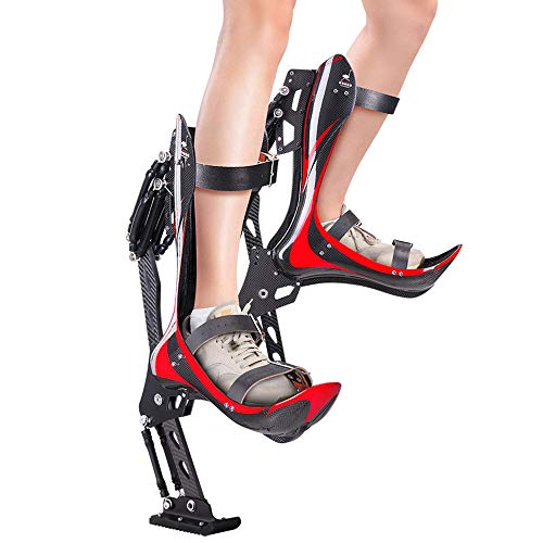 HUWENJUN123 Zapatos de Salto Zapatos de Canguro para Adultos, Zancos de Salto Zapatos de Rebote de Fitness Botas para Correr antigravedad, Ejercicio, Deportes Divertidos para Hombres Adultos, Mujeres