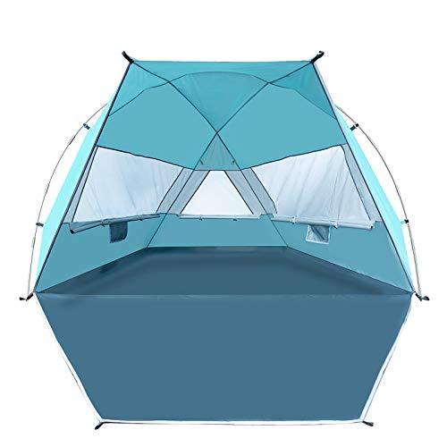 Forceatt Tenda da spiaggia per 3-4 persone, UPF50 + tenda da spiaggia ombreggiante argentata,...