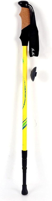 Carbon Rod Outdoor Rod Three Aluminum Alloy Sticks Straight Handle Telescopic Ultra Light Old Crutches Trekking Pole Folding,B65135CM