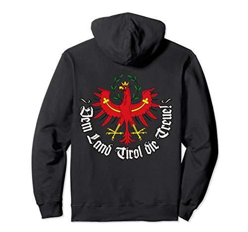 Dem Land Tirol die Treue Rückseite Tiroler Adler Bekleidung Pullover Hoodie