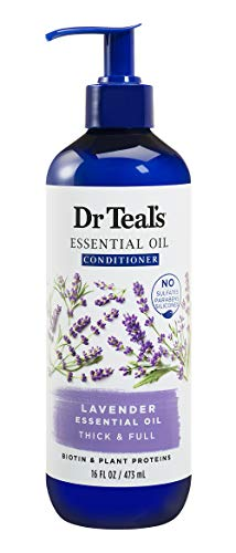Dr Teal's Lavender Thick & Full Essential Oil Conditioner, Sulfate Free, 16 Fl Oz