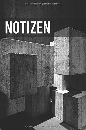 Notizen Betonwürfel: Brutalismus | DIN A5 | Architektur | Sichtbeton | Würfel | Liniert | 100 Seiten | 15 x 23cm